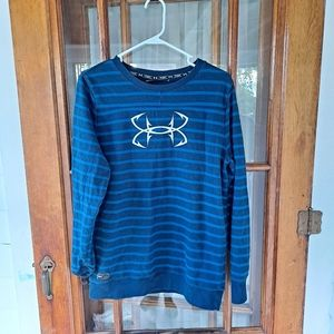 Mens Under Armour Blue Pullover Sweater Size Large